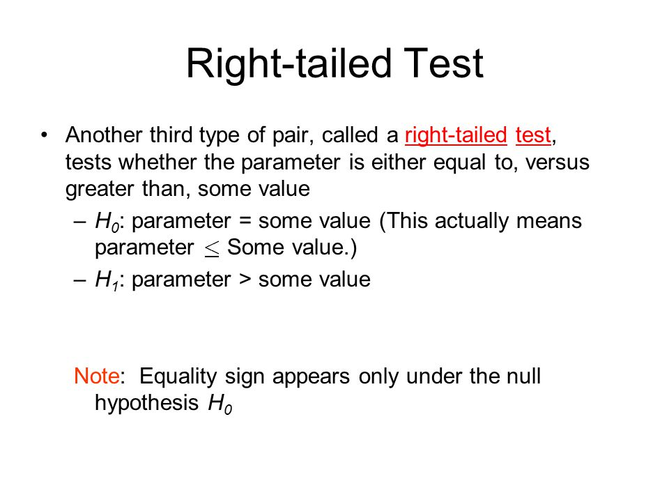 Right-tailed Test