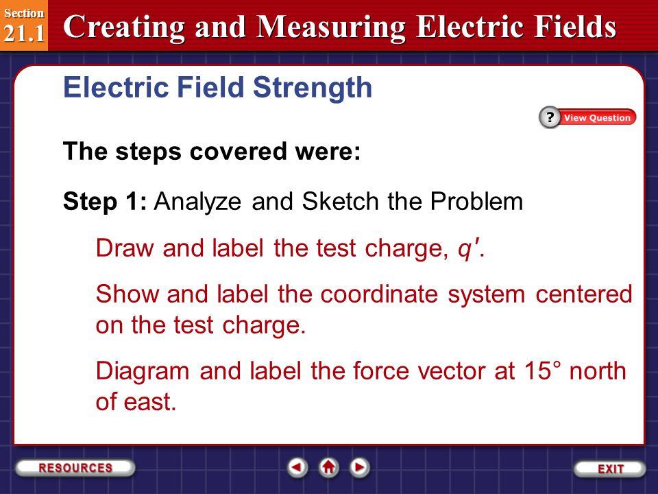 Electric Field Strength