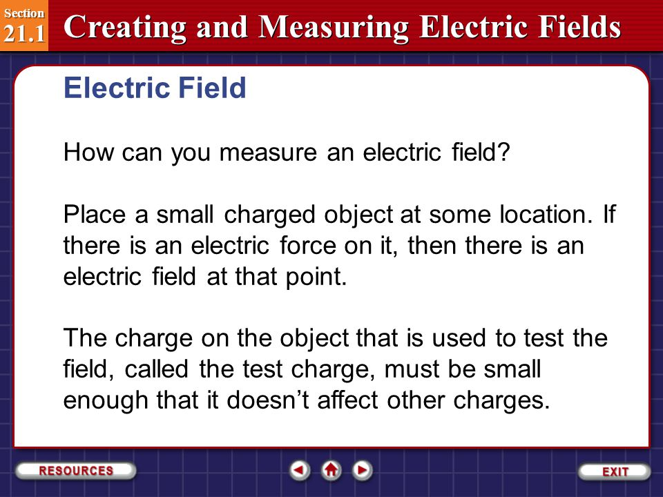 Electric Field How can you measure an electric field