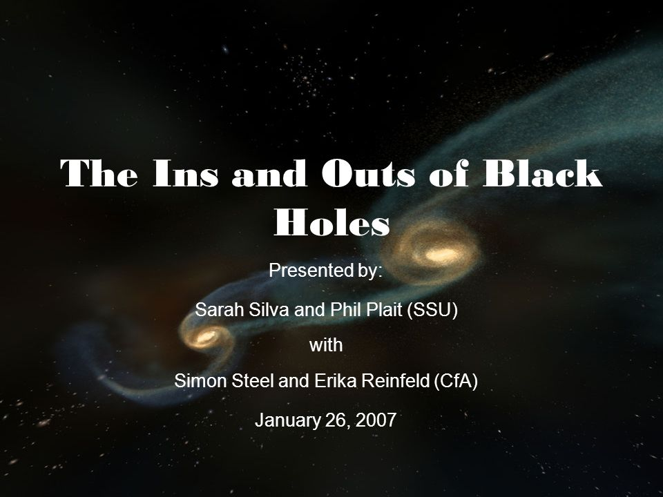 The Ins and Outs of Black Holes