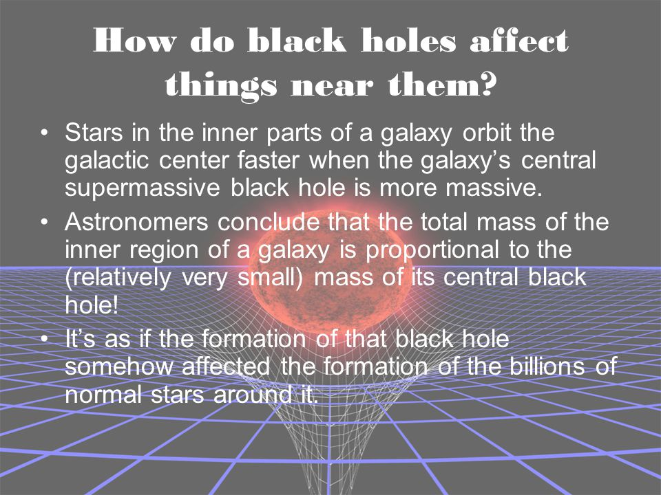 How do black holes affect things near them