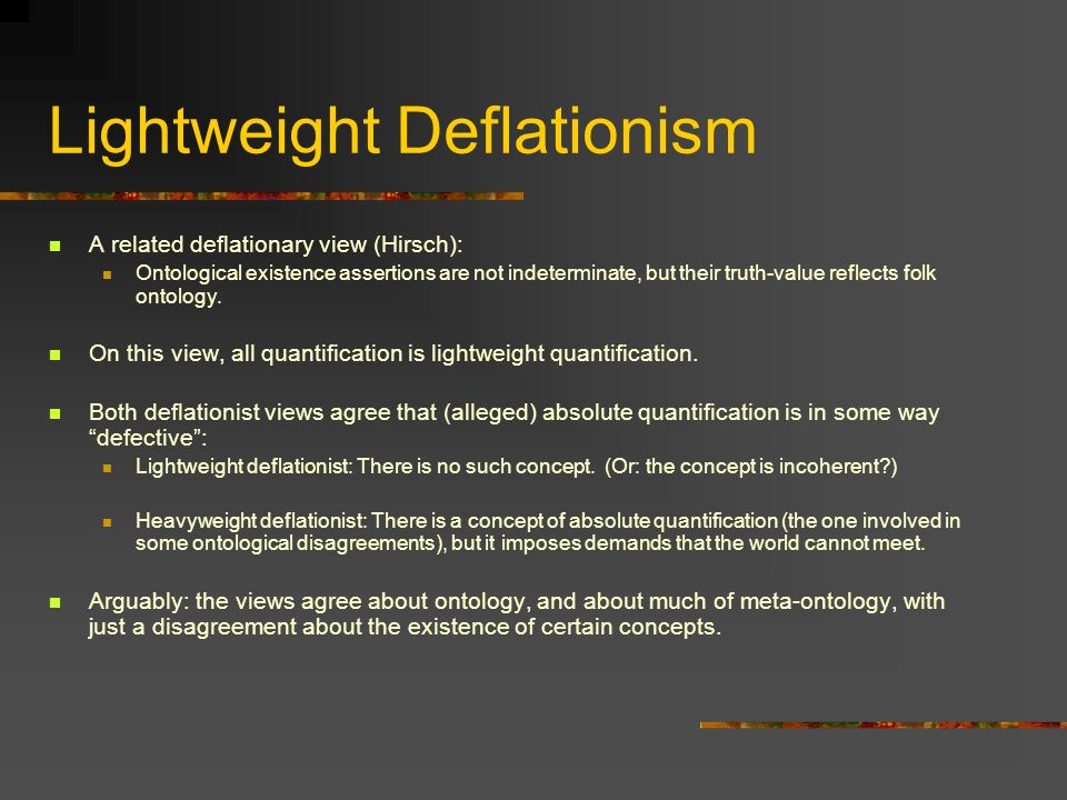 Lightweight Deflationism