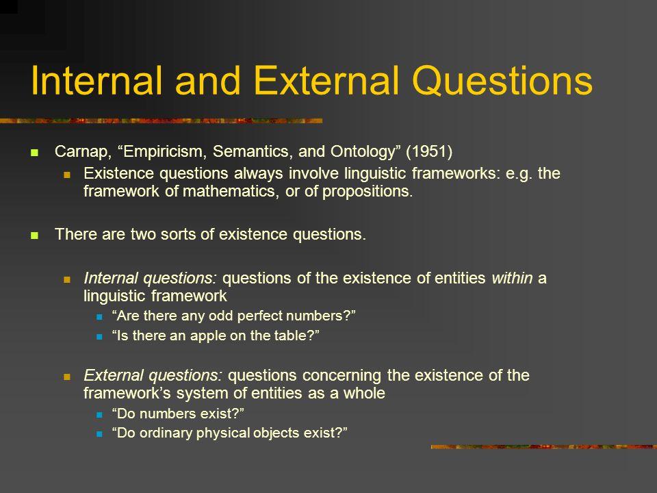 Internal and External Questions