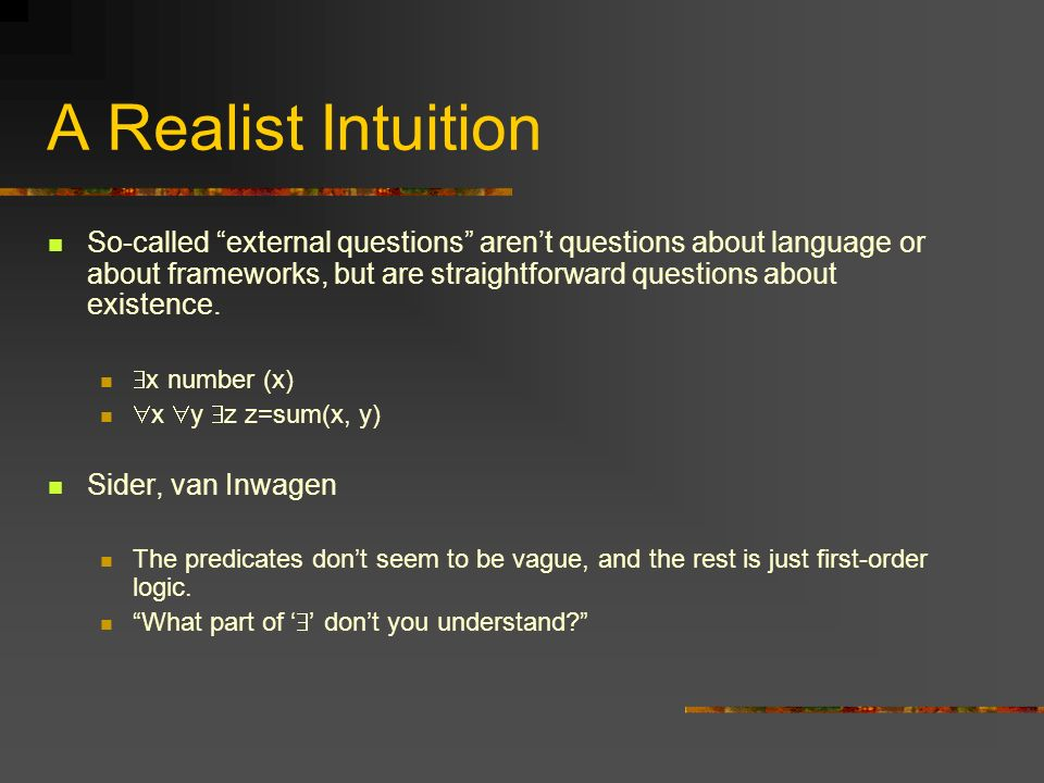 A Realist Intuition