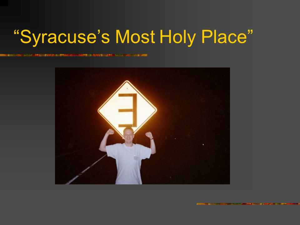 Syracuse's Most Holy Place