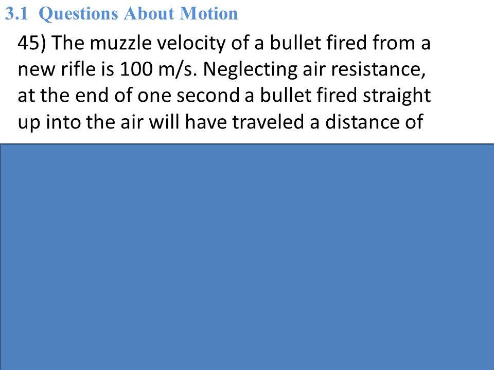 3.1 Questions About Motion