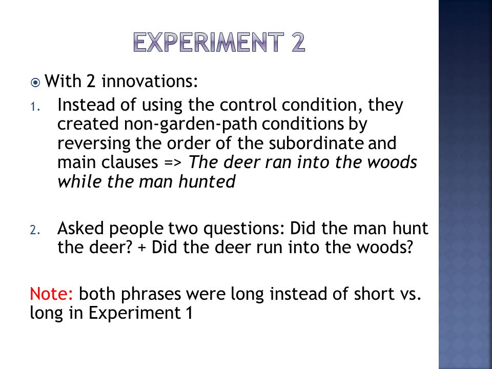 Experiment 2 With 2 innovations: