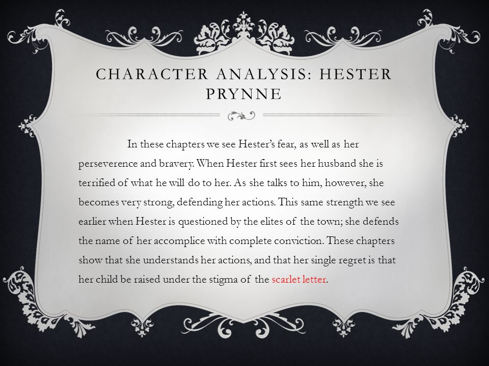 Character Analysis: Hester Prynne