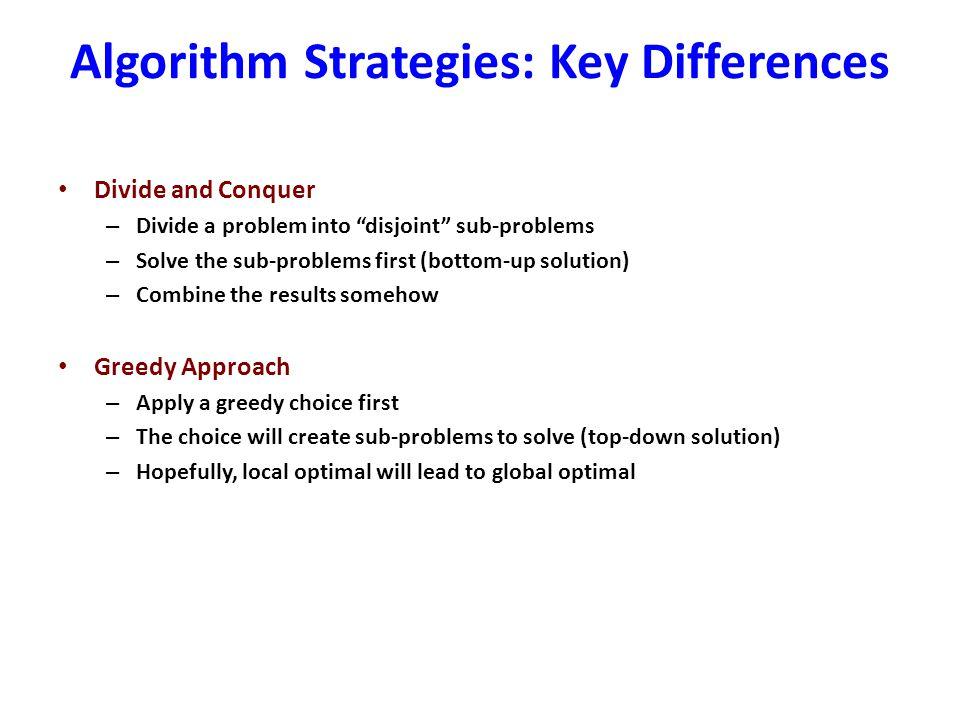 Algorithm Strategies: Key Differences