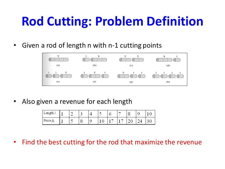 Rod Cutting: Problem Definition