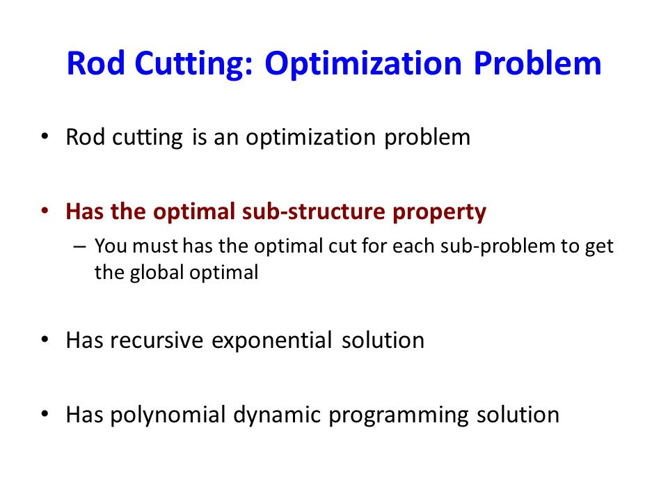 Rod Cutting: Optimization Problem