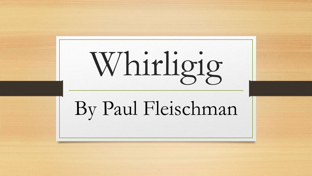 whirligig book summary