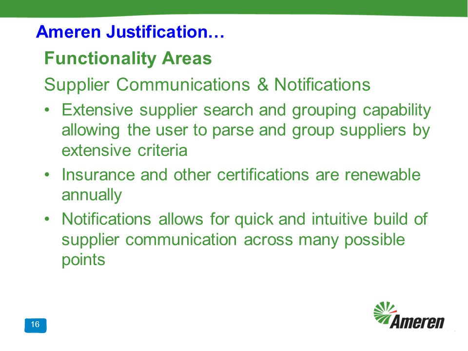 Supplier Communications & Notifications