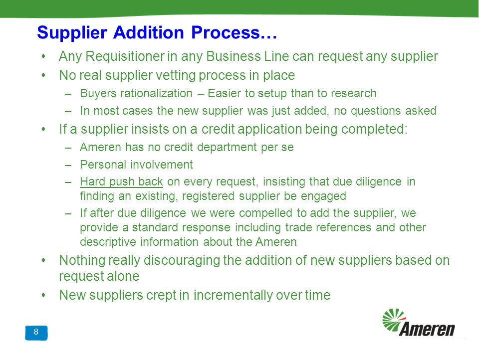 Supplier Addition Process…