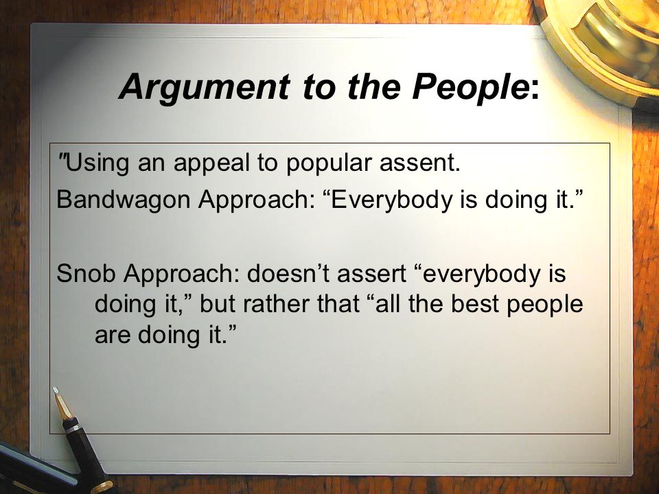 Argument to the People: