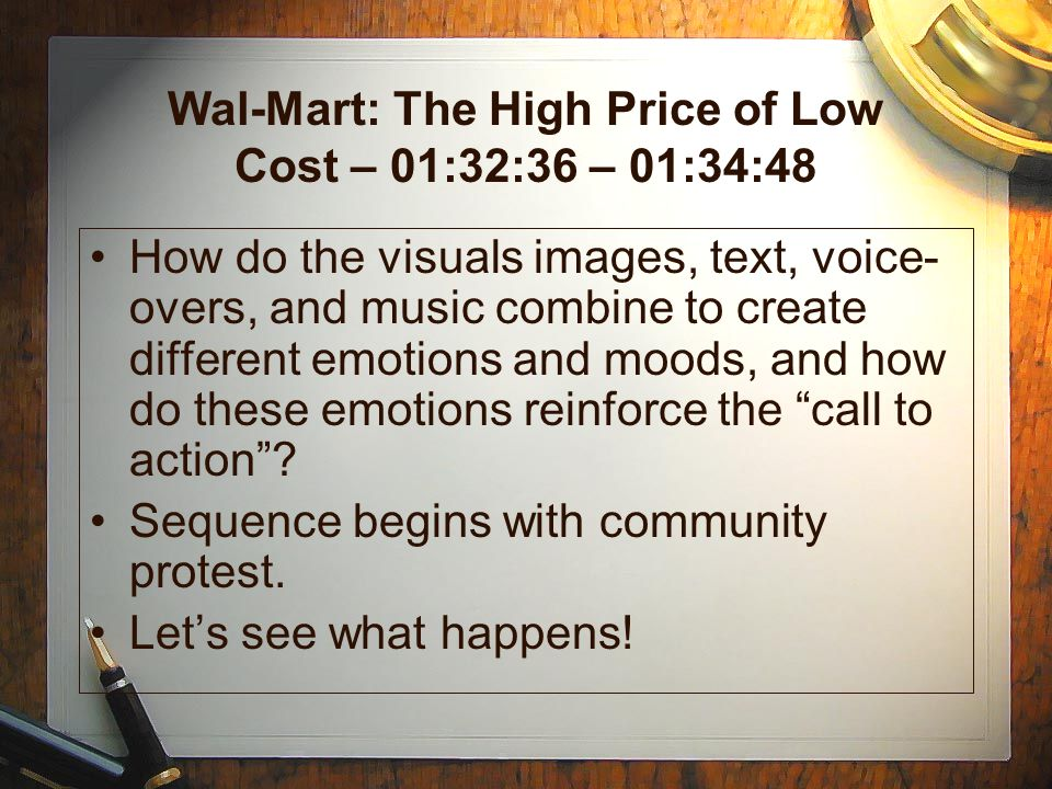Wal-Mart: The High Price of Low Cost – 01:32:36 – 01:34:48