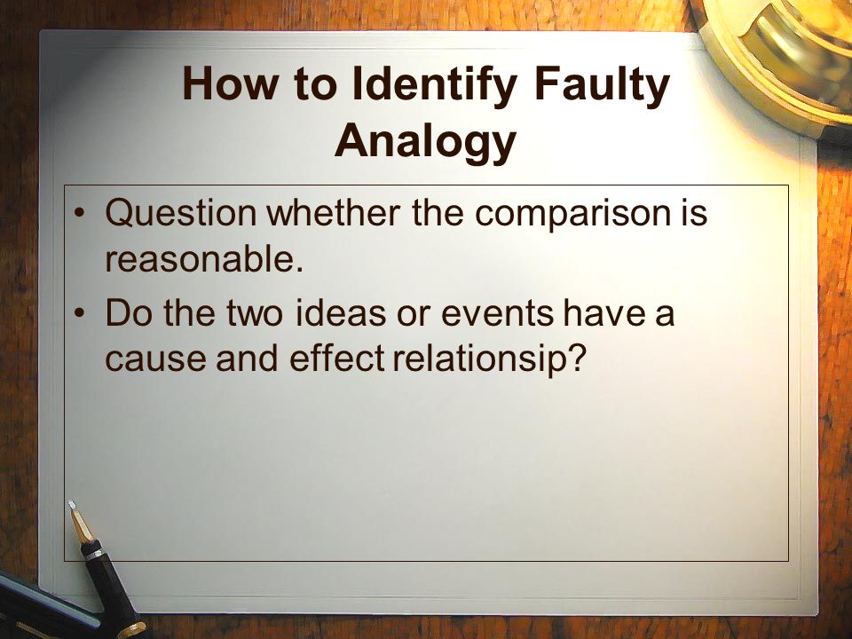 How to Identify Faulty Analogy