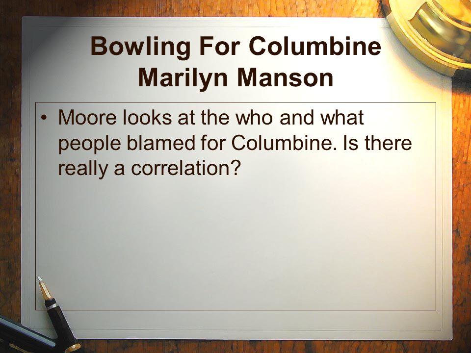 Bowling For Columbine Marilyn Manson