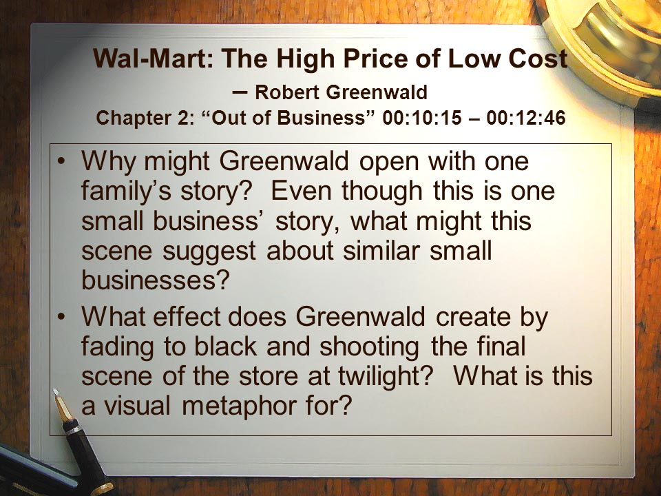 Wal-Mart: The High Price of Low Cost – Robert Greenwald Chapter 2: Out of Business 00:10:15 – 00:12:46