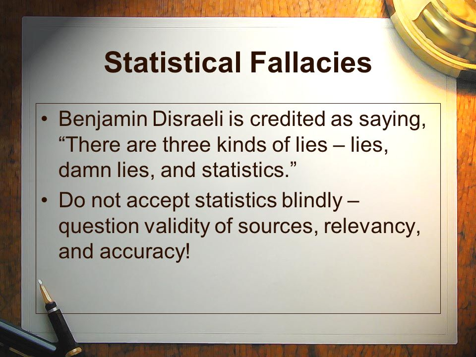 Statistical Fallacies
