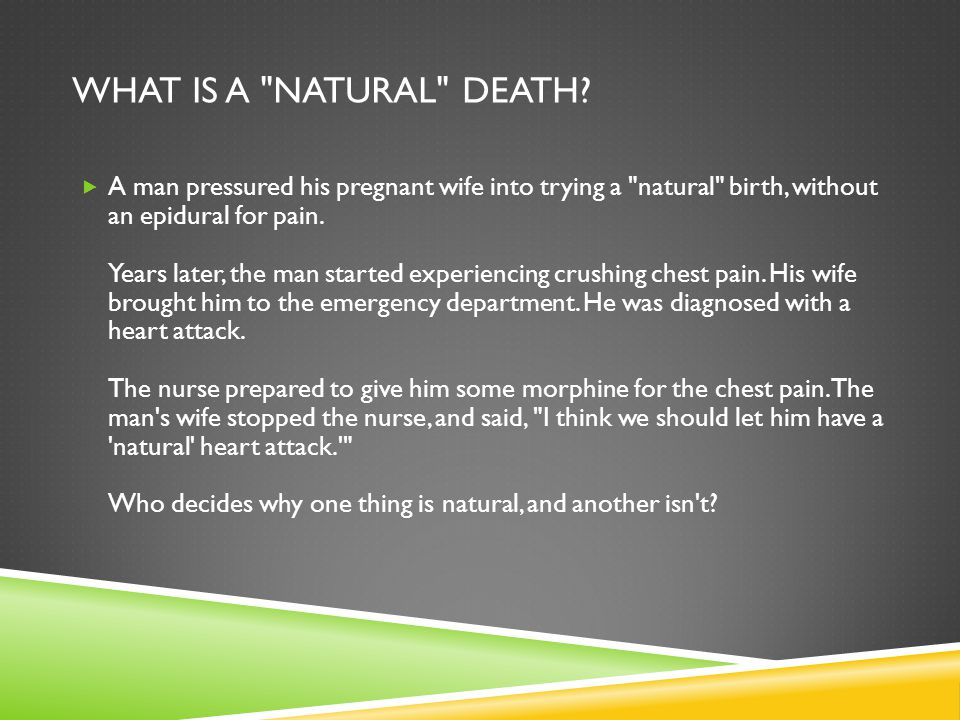 What is a natural death