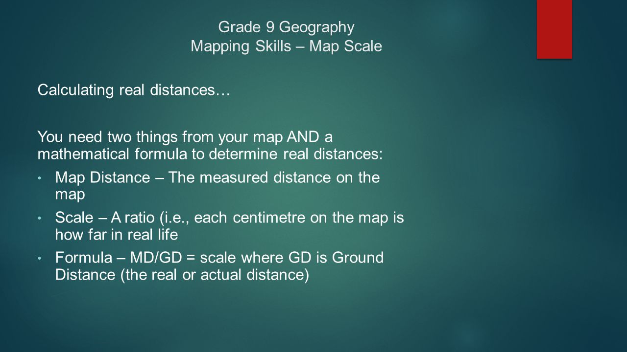 how to find real distance on a map