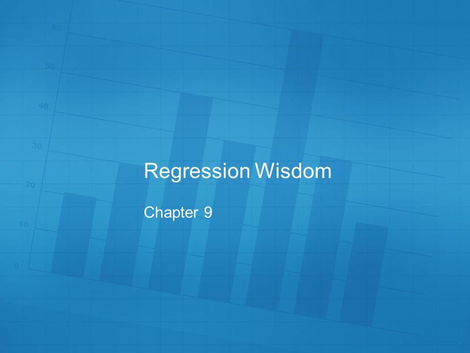 Regression Wisdom Chapter 9