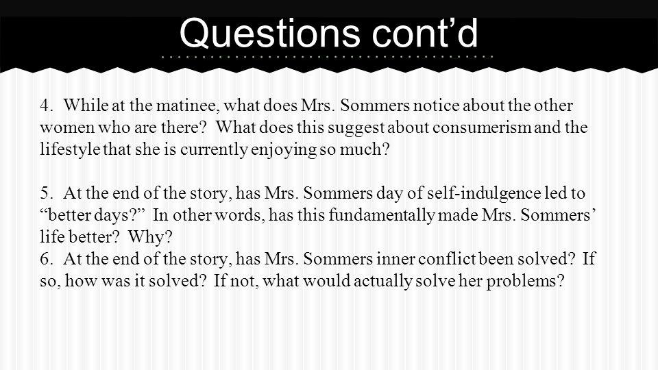 Questions cont'd