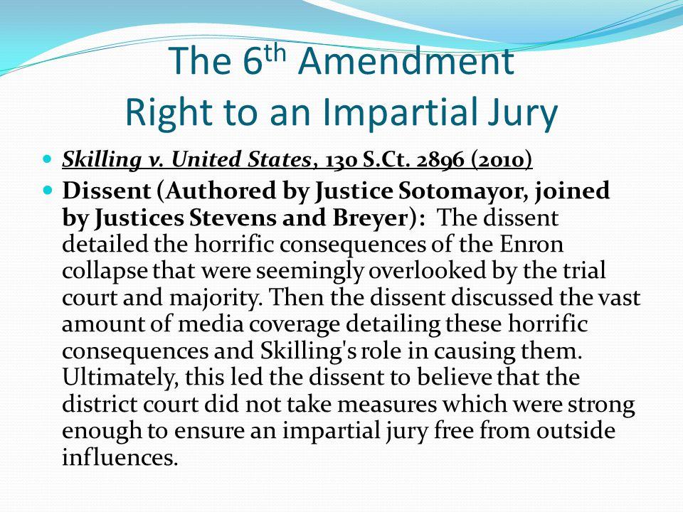 The 6th Amendment Right to an Impartial Jury