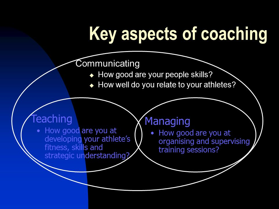 Key aspects of coaching