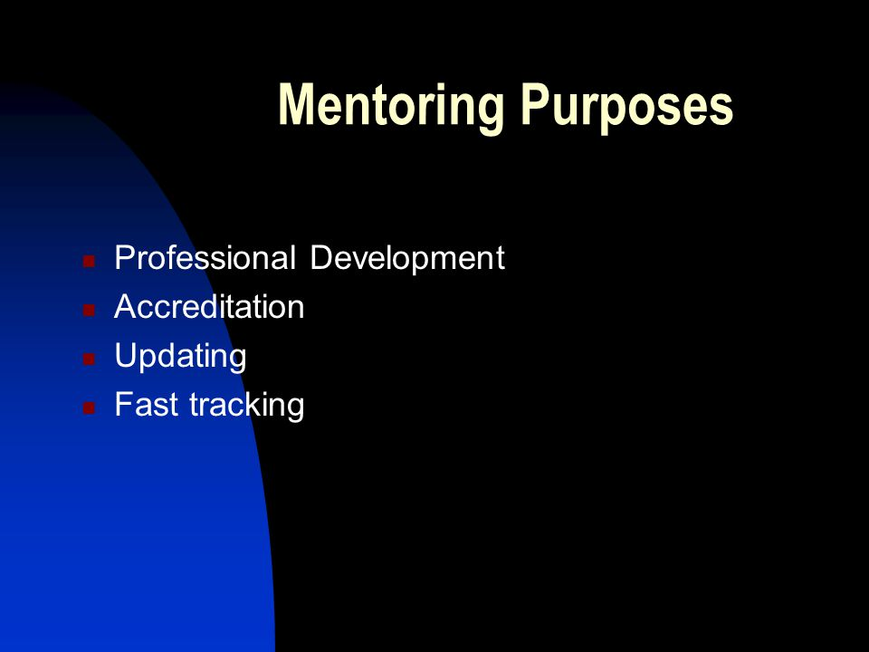 Mentoring Purposes Professional Development Accreditation Updating