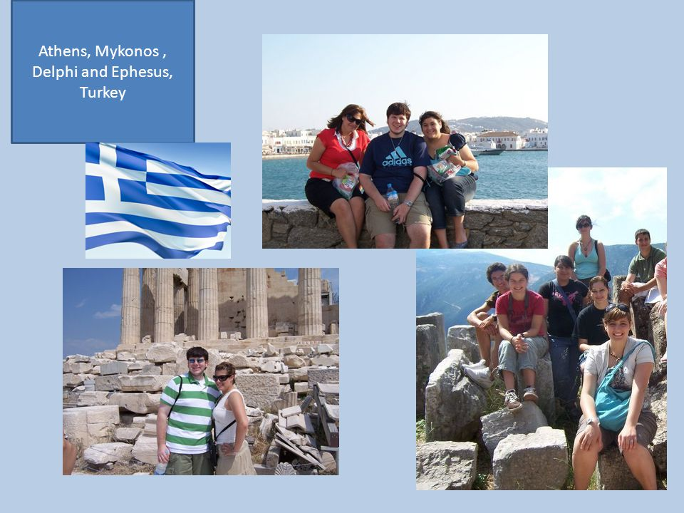 Athens, Mykonos , Delphi and Ephesus, Turkey