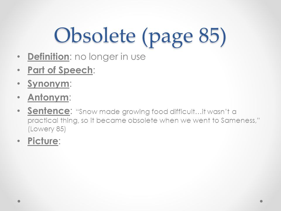 how to use obsolete in a sentence