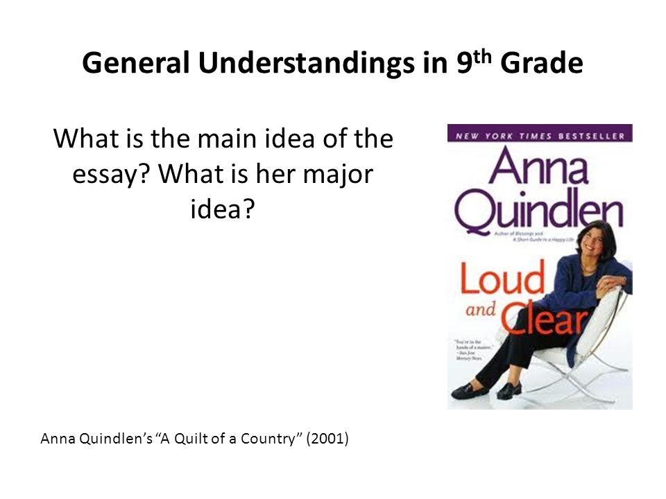 General Understandings in 9th Grade