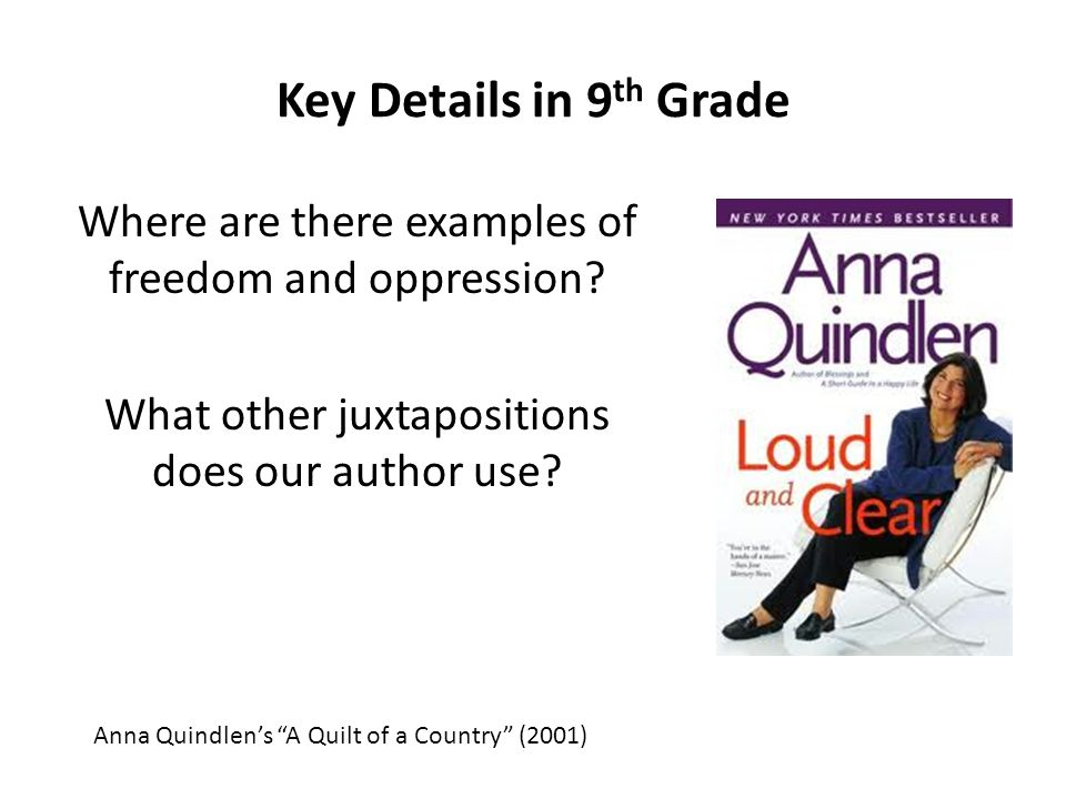 essay on anna quindlen s a quilt A quilt of a country prompts be sure that you've closely read the text a quilt of a be sure that you've closely read the text a quilt of a country by anna quindlen (pages 3-6) and added the words defined in the margins.