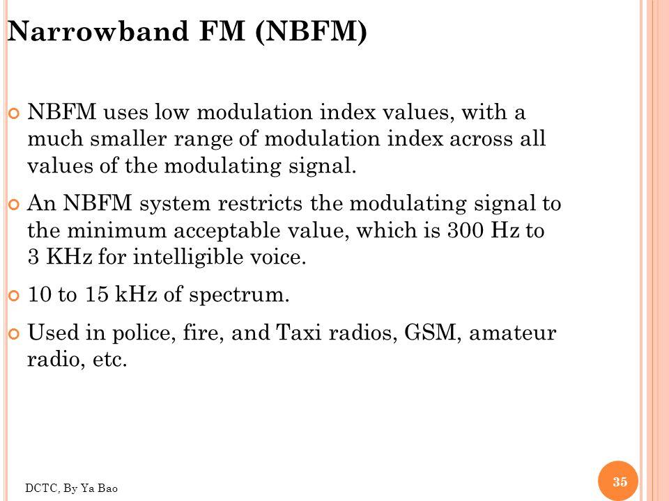Narrowband FM (NBFM)