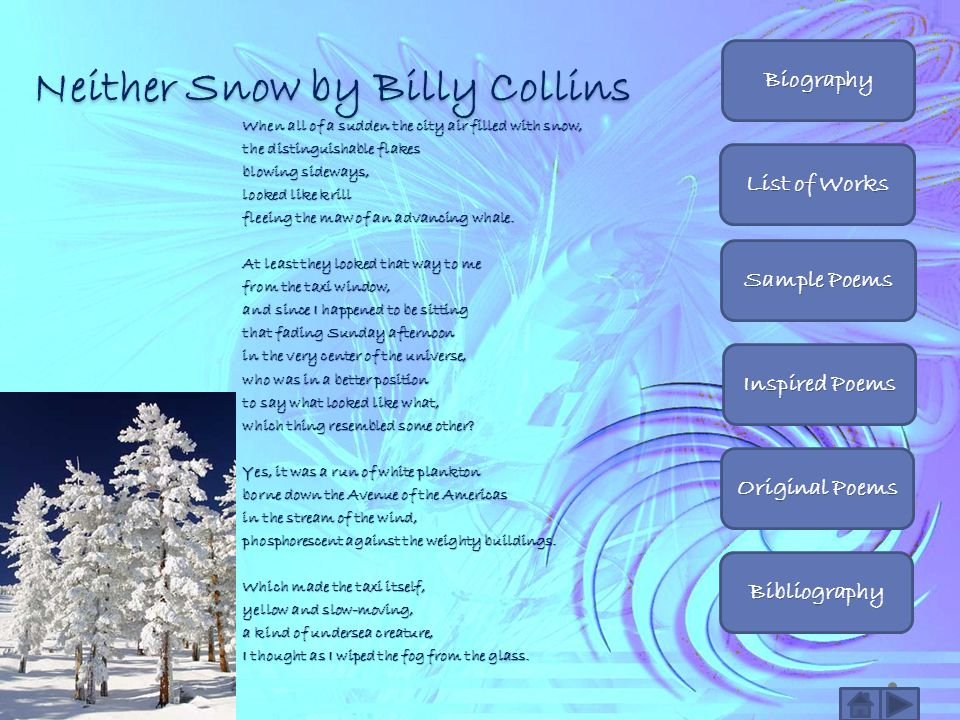 Neither Snow by Billy Collins