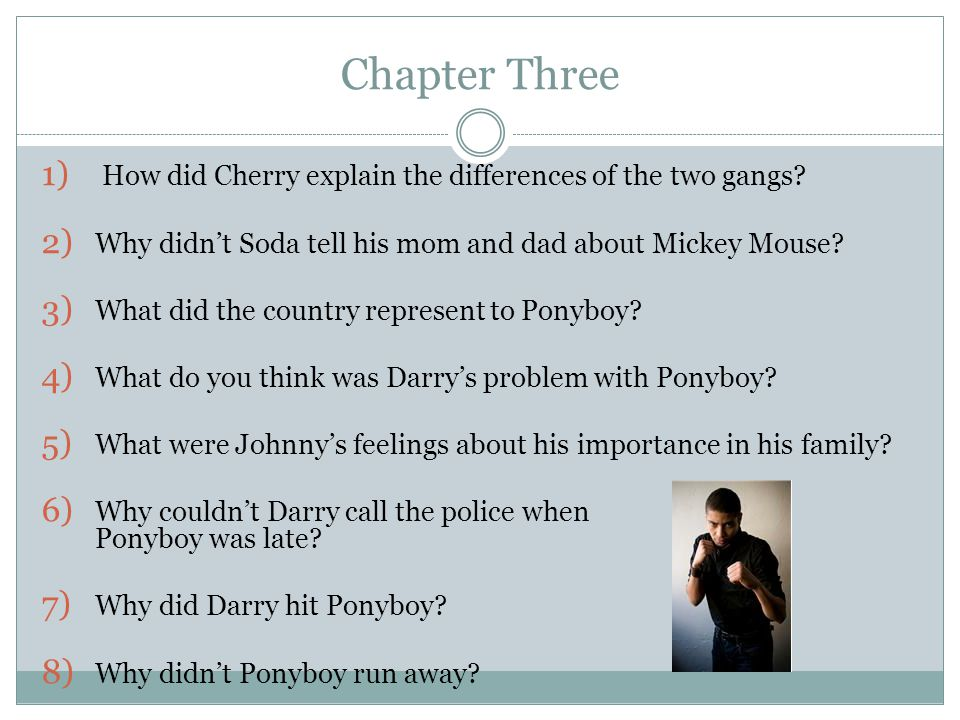 Chapter Three How did Cherry explain the differences of the two gangs