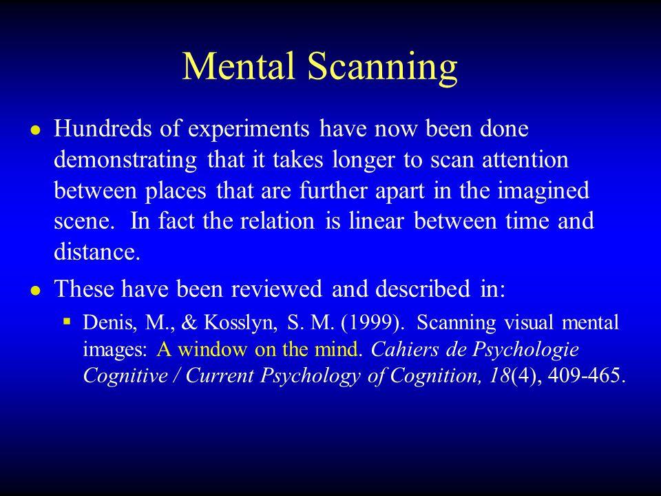 Mental Scanning
