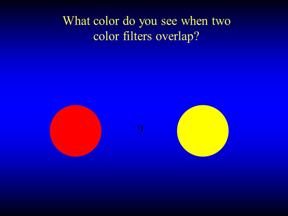 What color do you see when two color filters overlap