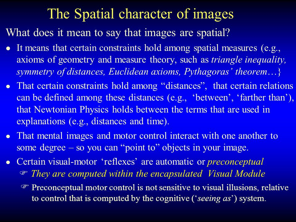The Spatial character of images