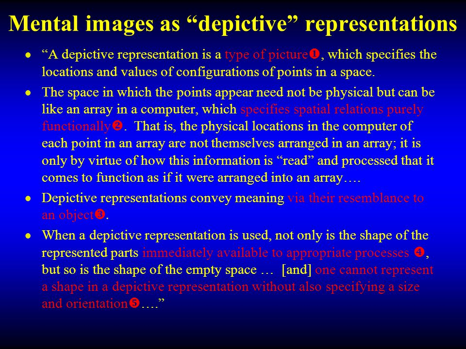 Mental images as depictive representations