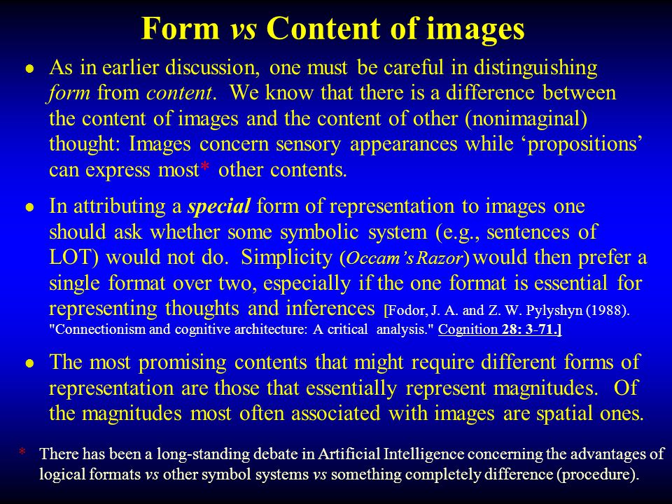 Form vs Content of images