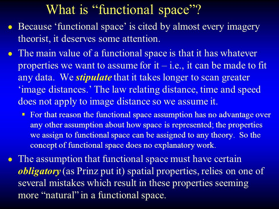 What is functional space