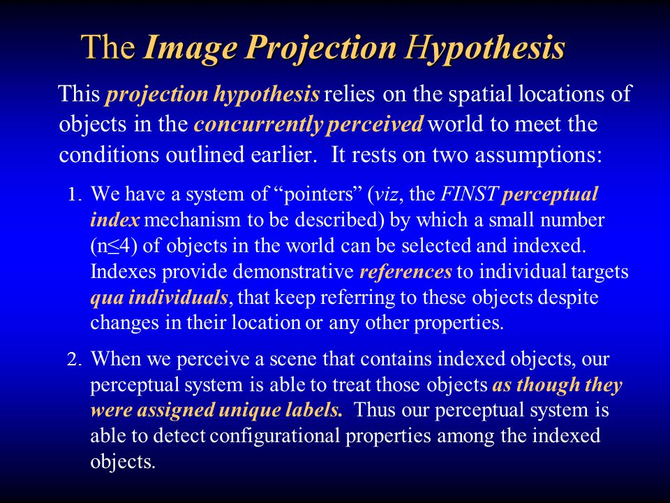 The Image Projection Hypothesis