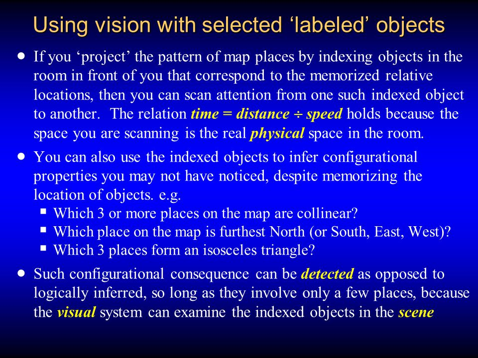 Using vision with selected 'labeled' objects