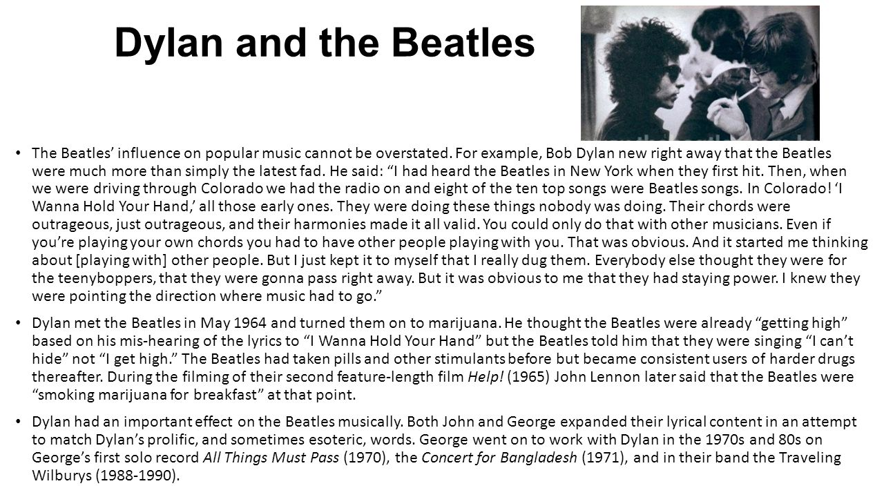 Dylan and the Beatles