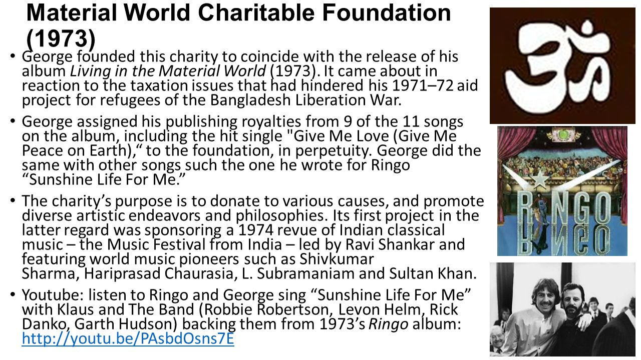 Material World Charitable Foundation (1973)