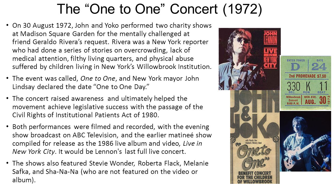 The One to One Concert (1972)