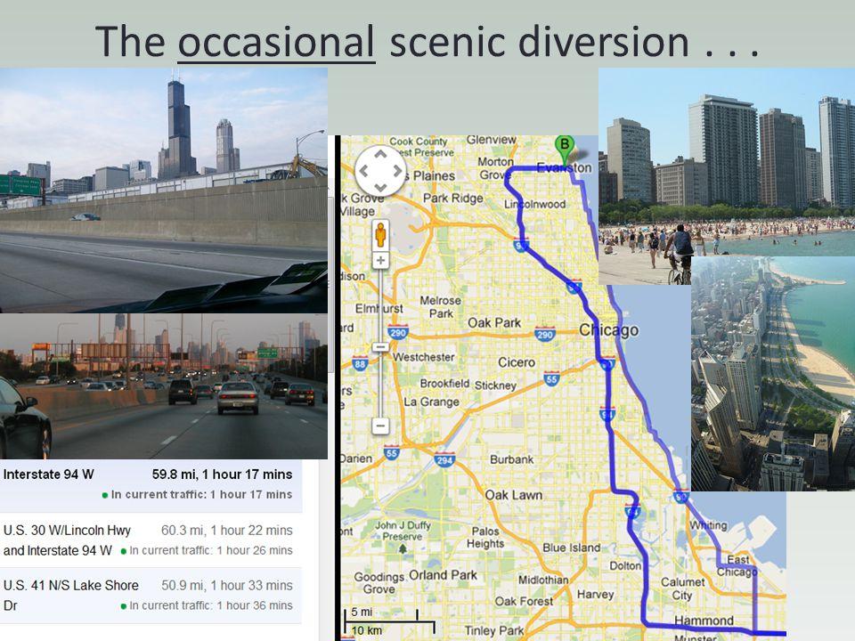 The occasional scenic diversion . . .